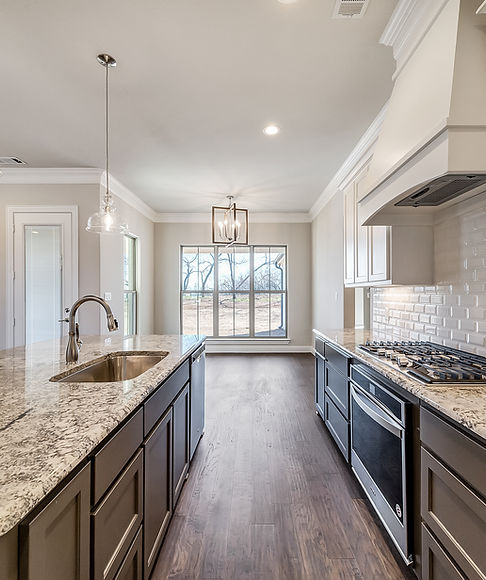 Custom model home kitchen