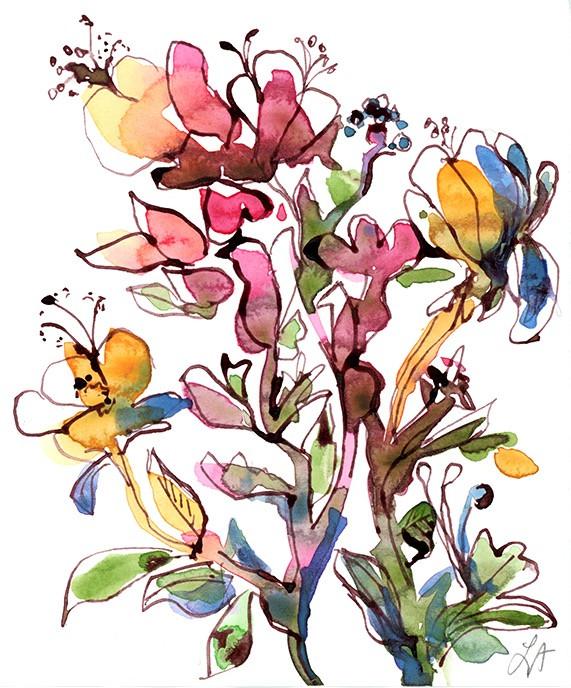 Watercolour Flower Study