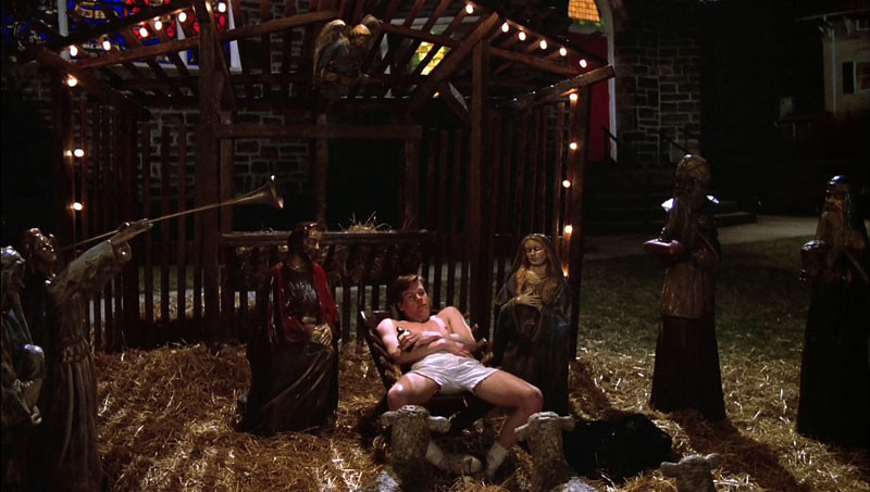 Kevin Bacon as Fenwick, ending his night in the Manger.
