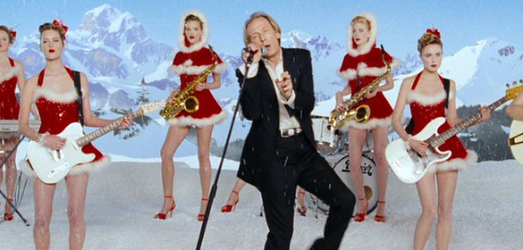 "Bill Nighy provides laughs in ""Love Actually"" as a rocker reaching for another number one hit."
