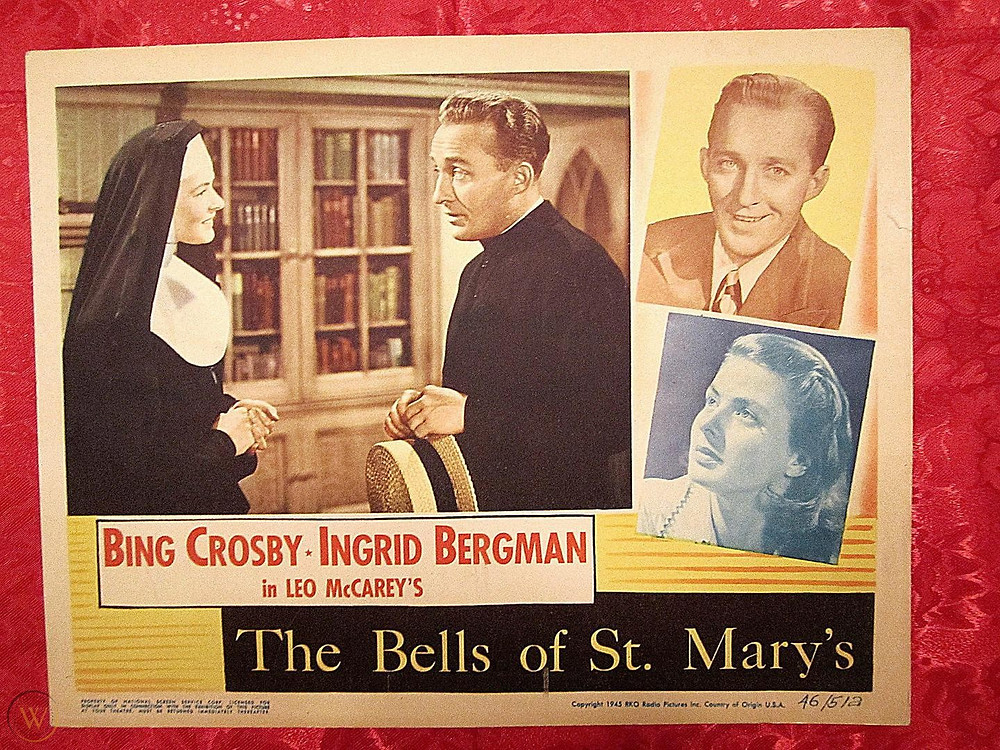 "Movie lobby card for ""Bells of St. Mary's"""