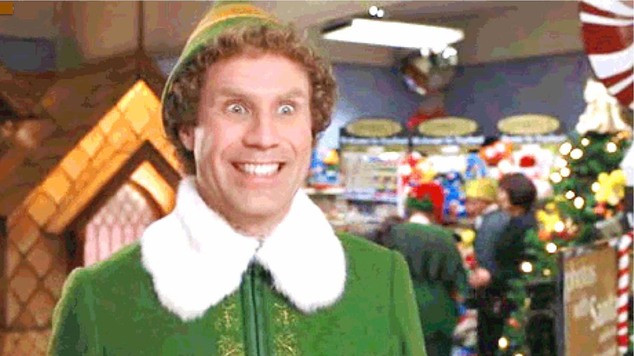 "Will Ferrell at his manic best in ""Elf"""