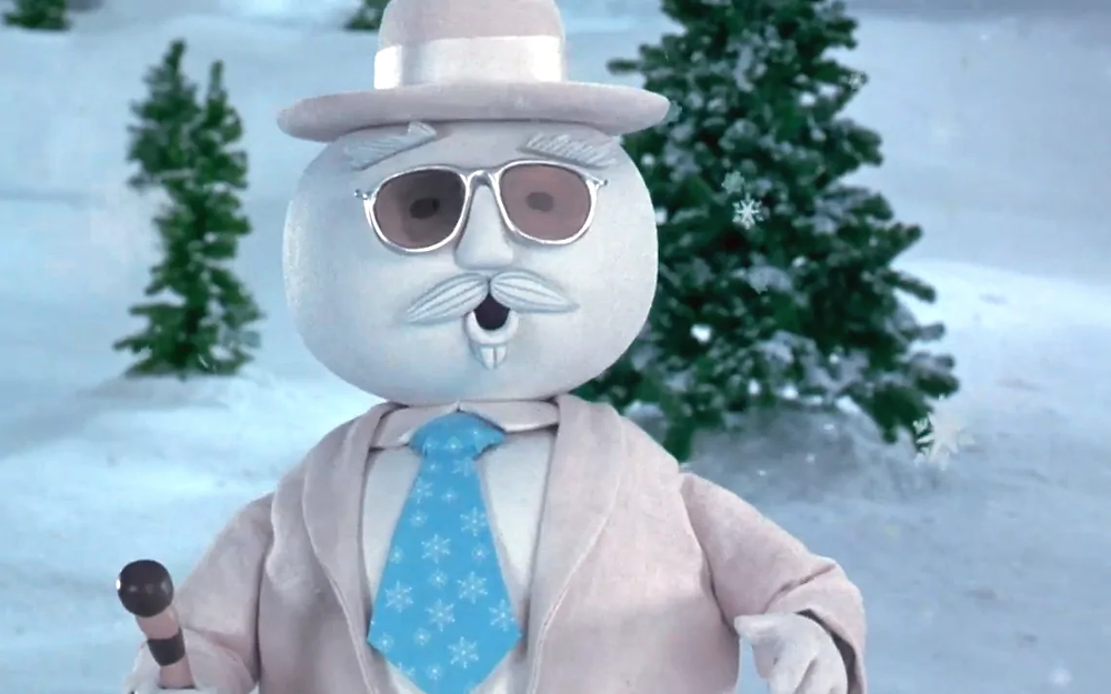 "Leon Redbone as the jaunty, jazzy snowman in ""Elf"""
