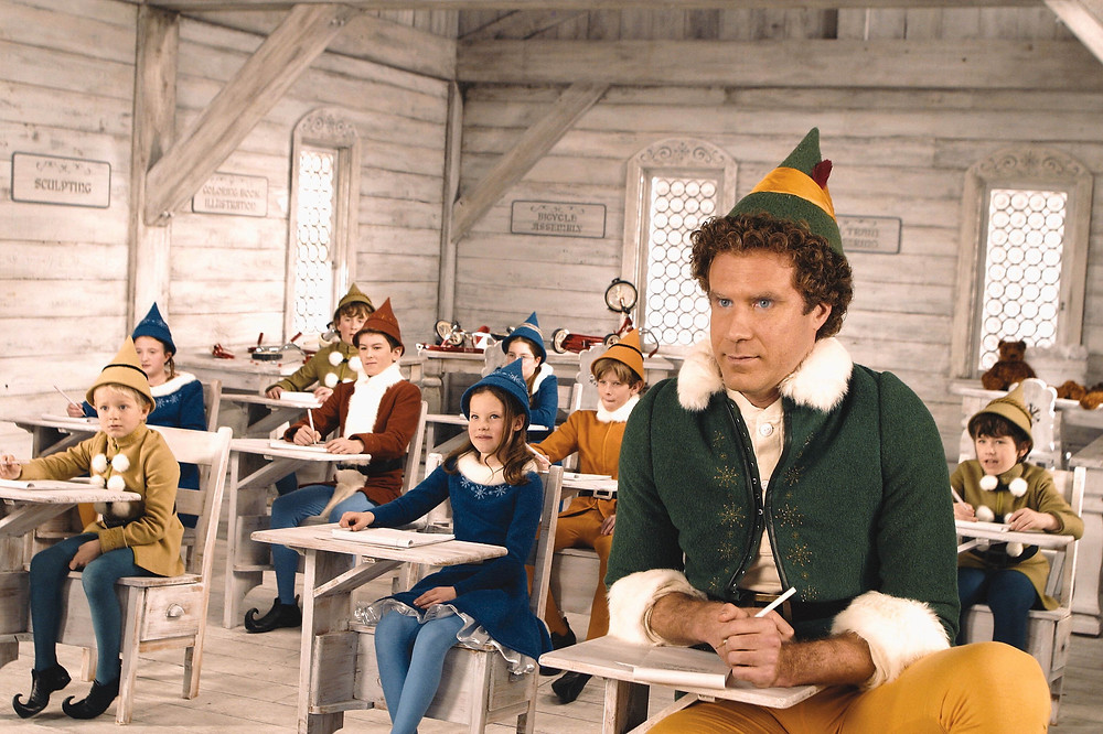Will Ferrell doesn't quite fit in with the other elves.