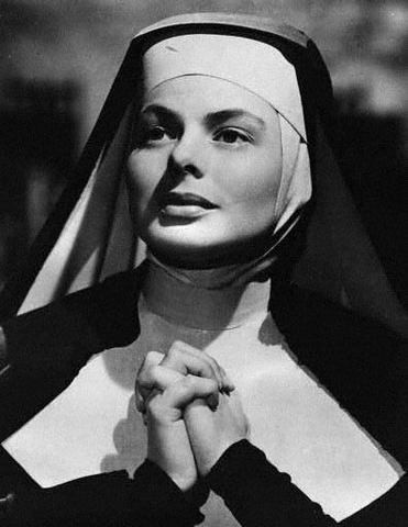 Ingrid Bergman in prayer as Sister Benedict
