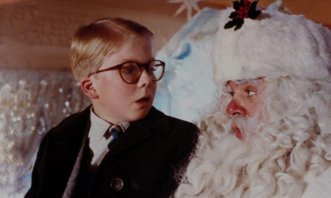 Santa tells Ralphie he'll shoot his eye out.