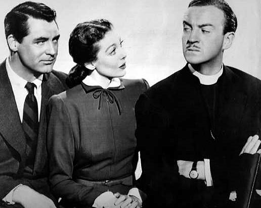 "Cary Grant, Loretta Young, David Niven, ""The Bishop's Wife"""