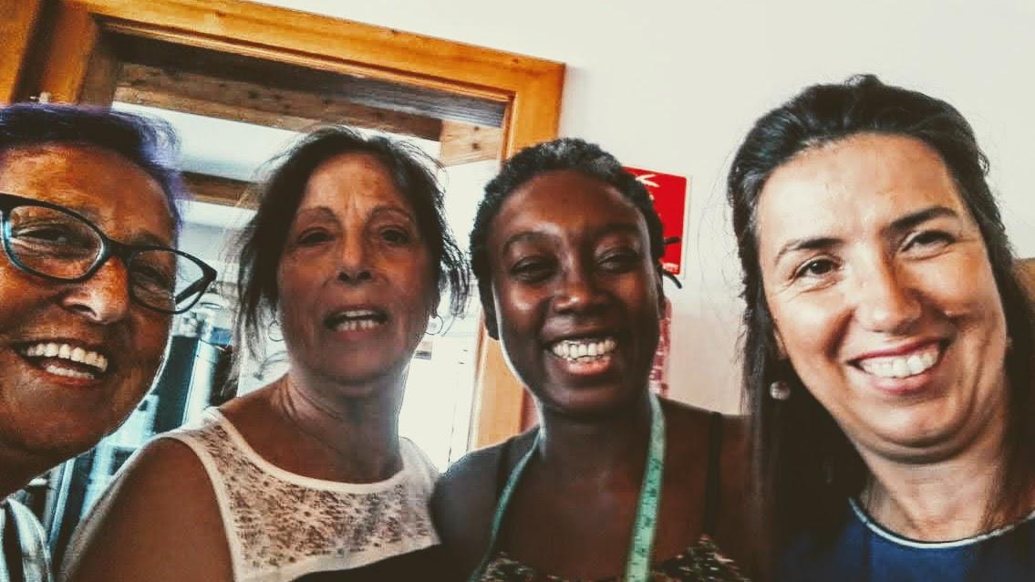 con Tina, Blanca y Valentina