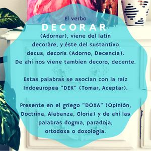 Etimología decorar