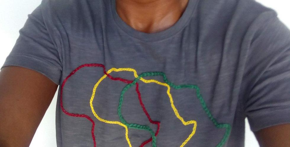 Camiseta bordada África y Madagascar