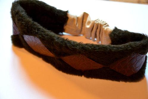 Bandeau cuir à losanges
