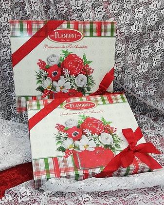 Scatola regalo con nastro Winter Flowers