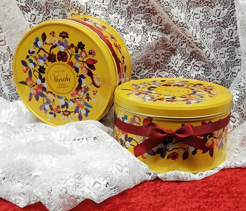 "Cioccolatini assortiti in scatola regalo di latta, ""Cappelliera Autunno""_400g"