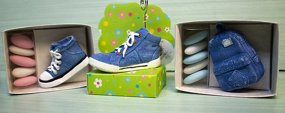 Kit Bomboniere scarpette di Jeans