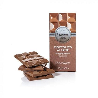 Tavoletta di cioccolato al latte senza zuccheri aggiunti 100g