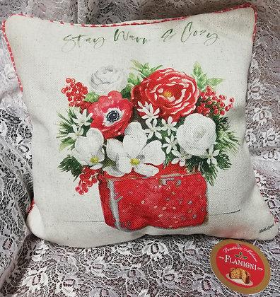 Milano Basso in cuscino Winter Flowers