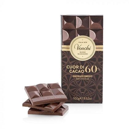 Tavoletta di cioccolato fondente 60% 100g
