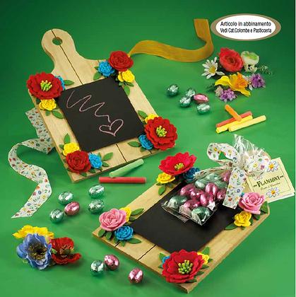 Lavagnette con fiori e cioccolatini