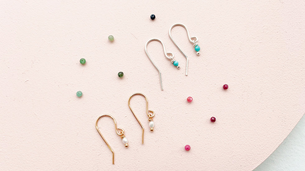 The Gemstone Drop Earrings