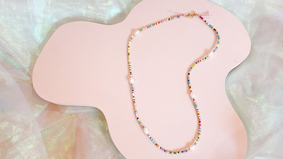 The Rainbow Pearl Necklace