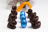 Notre boite assortiments d'animaux pralinés au chocolat noir ou lait