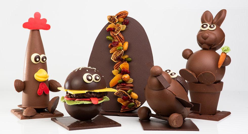 Ensemble Creations Pâques chocolat Lhé