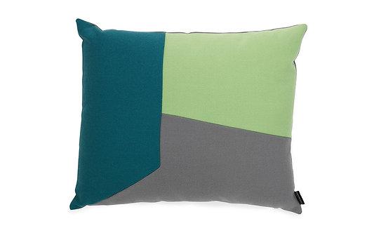Angle Cushion Blue Green
