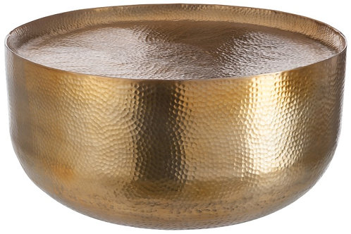 Gold Hammered Coffee Table