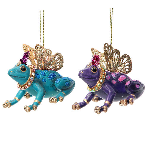 Frog with Metal Wings (set of 2)
