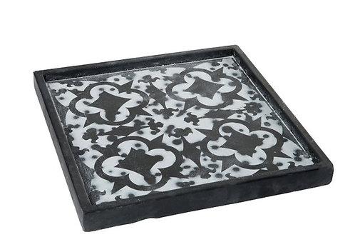 Tray Oriental Cement Black