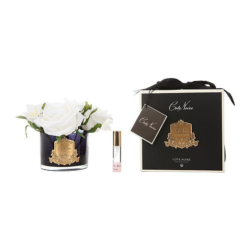 COTE NOIRE PERFUMED NATURAL TOUCH 5 ROSES - BLACK - IVORY WHITE