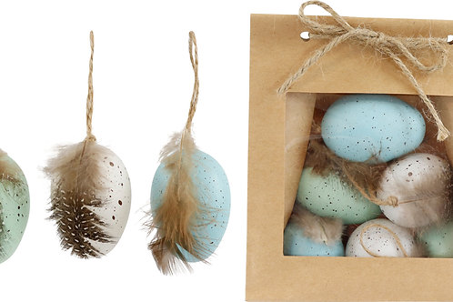 "DECORATION EGGS""FEDERN"" S/6"