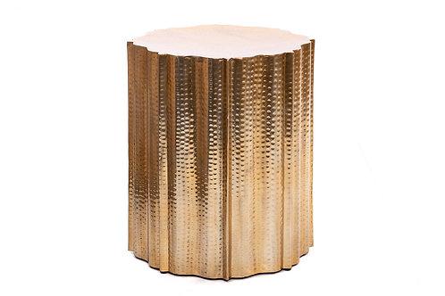 HAMMERED GOLDEN ALUMINIUM SIDE TABLE