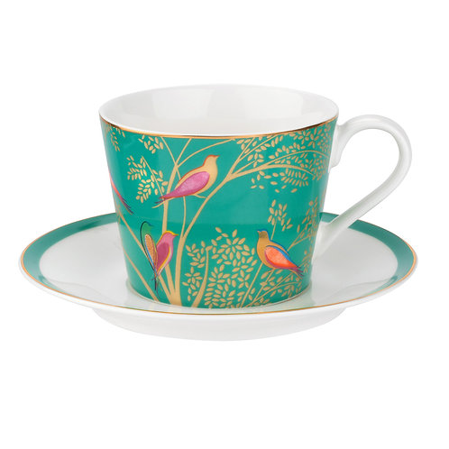 GREEN BIRD TEACUP