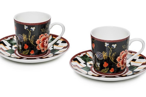 Coffee cup & saucer set of 2