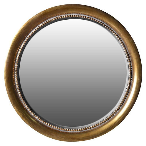 Round Gold Wall Mirror
