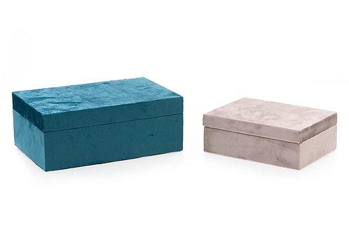 SET 2 VELVET BOXES