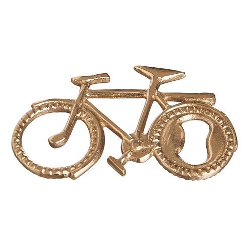 BOTTLE OPENER BICYCLE IN GOLD BRASS