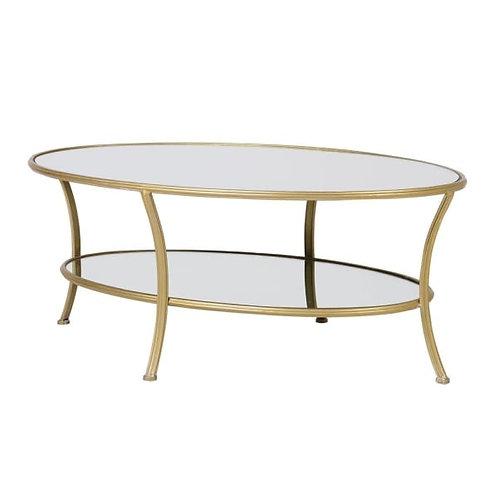 Gold Metal Coffee Table