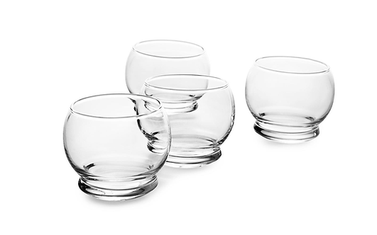 Rocking Glass - 4 pcs, 25 cl Glass