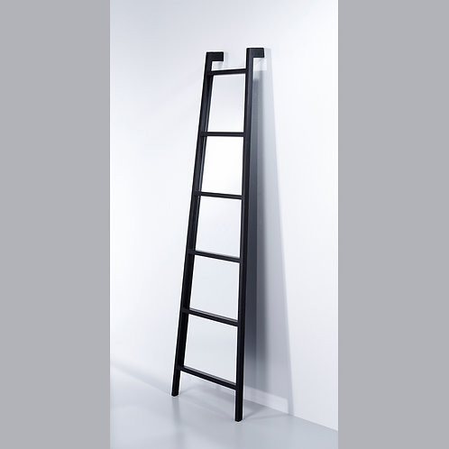 Wall leaning ladder mirror