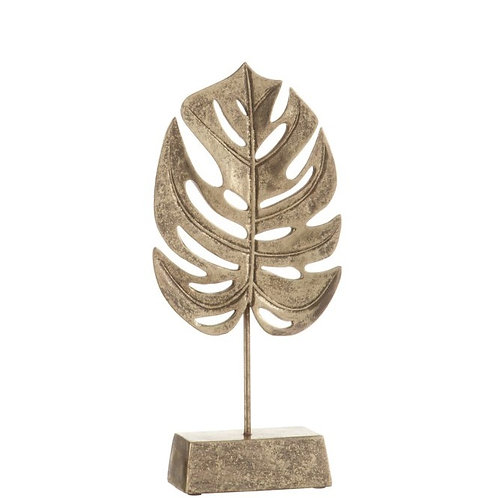 Gold Tropical Leaf on Stand