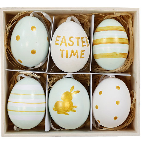 "EGGS IN BOX""EASTER TIME"" S/6"