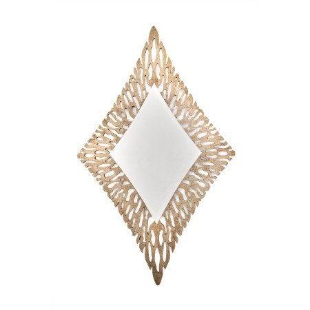 Bronze Leaf Diamond Wall Mirror