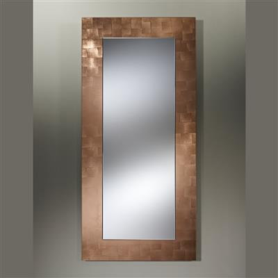Wall mirror in copper frame