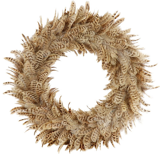 """FEATHER WREATH""""NATURAL"""""""
