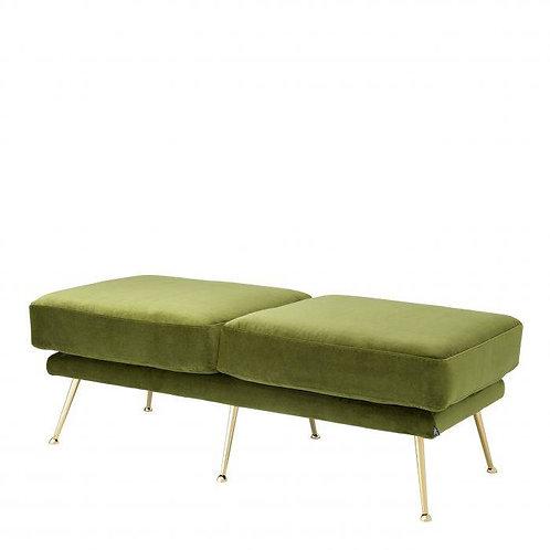 BENCH TAHOE - Bague green   brass legs