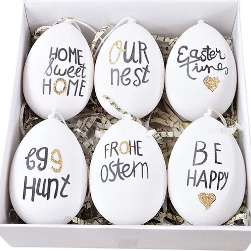 Set of 6 Decorative Phase Eggs