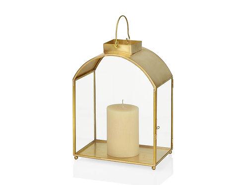 Decorative golden brass bow lantern