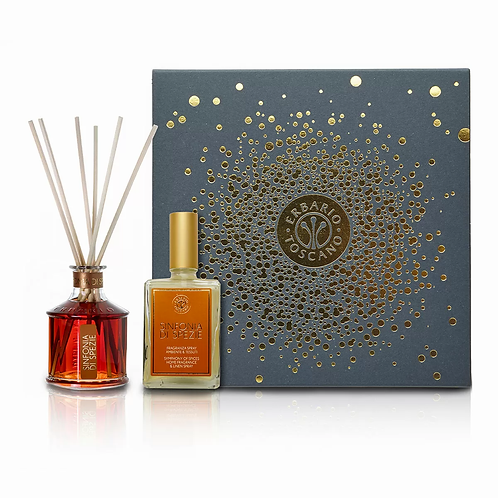 GIFT BOX DIFFUSER AND FRAGRANCE & LINEN SPRAY SYMPHONY OF SPICES